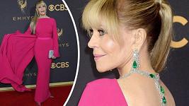 Jane Fonda na letošním udělování Emmy Awards 2017 v Los Angeles