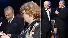Karel Gott s tchyní Blankou na koncertu k jubileu Karla Štědrého