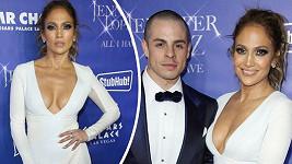 Jennifer Lopez v Las Vegas oblékla šaty s obrovským výstřihem.