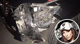 Olga Lounová na dálnici rozsekala svůj vůz.