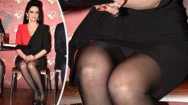 Lucie ukázala rozbité koleno a barvu svého spodního prádla.