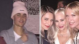 Diana Kobzanová potkala na párty Justina Biebera.
