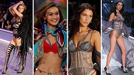 Gigi (vlevo) a Bella Hadid se staly hvězdami přehlídky Victoria's Secret.
