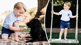 Princ George oslavil třetí narozeniny, rodina při té příležitosti zveřejnila tyto roztomilé fotky.