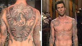 Adam Levine už je jako omalovánky...