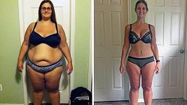 Američanka zhubla 70 kilogramů