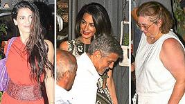 Sestry George a Amal Clooneyových nechyběly na rodinné večeři.