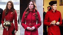 Vévodkyně z Cambridge má tento kabátek v oblibě...