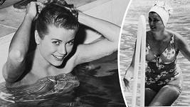 Cudná Grace Kelly v bazénu