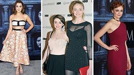 Maisie Williams a Sophie Turner se v průběhu natáčení seriálu Hra o trůny hodně změnily...