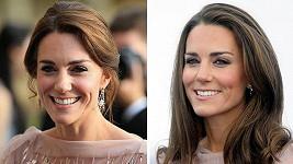 Vévodkyně z Cambridge v oblíbených šatech ve středu a před pěti lety.