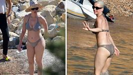 Katy v plavkách vypadá báječně.