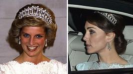 Slavná korunka z diamantů a perel zdobila poprvé vévodkyni Kate.