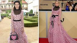 Monika Marešová (vlevo) oblékla stejné šaty jako Kate Hudson.