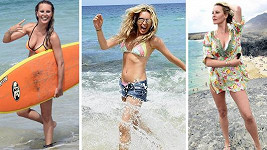 Takhle si Simona loni užívala na Lanzarote.