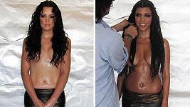 Khloé a Kourtney Kardashian si zahrály na mořské panny...