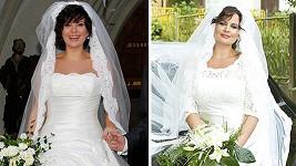 JitkJitka Čvančarová zářila ve svatebních šatech.
