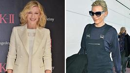 Dvě podoby Cate Blanchett.