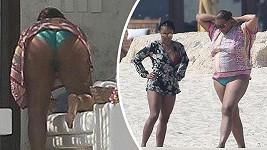 Queen Latifah na dovolené v Mexiku.