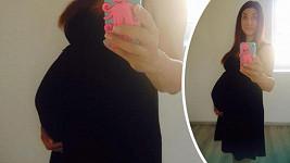 Michaela Zemánková má pár dní do termínu porodu.