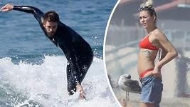 Zamilovaná Miley měla občas o Liama strach.