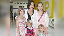 Zdeňka Žádníková Volencová a její čtyři děti