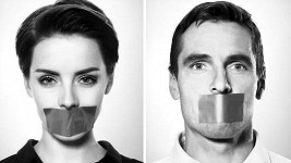 Gabriela Kratochvílová a Roman Šebrle v kampani s názvem Mlčení bolí