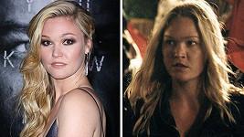 Julia Stiles ve filmu Jason Bourne a na jeho premiéře.