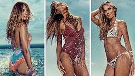 Heidi a její kolekci plavek nafotil Francesco Carrozzini.