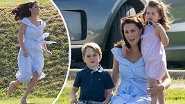 Kate s dětmi na charitativním pólu