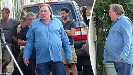 Gérard Depardieu natáčí novinku La Bonne Pomme.