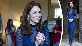 Vévodkyně Kate oblékla elegantní róbu od návrhářky Saloni.