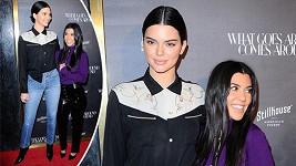 Kendall Jenner (21) spolu se svou sestrou Kourtney Kardashian (38)