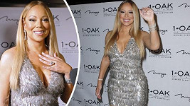 Mariah se pochlubila ňadry i diamantem.