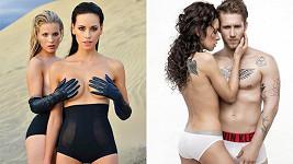 Tyhle dvě fotky mají společné dvě věci, nahotu a Kateřinu Votavovou.