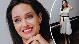 Úsměvem Angelina poslední dobou skutečně šetřila.
