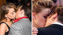Johnny Depp a Amber Heard na filmových premiérách...