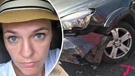 Martra Jandová měla nehodu.