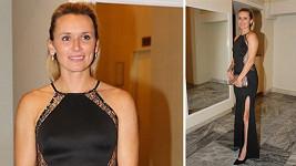 Eva Šebrlová zvolila šaty, které přesně kopírovaly její křivky.
