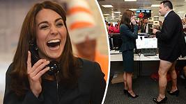 Kate si charitativní den v makléřské společnosti užívala...