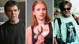 Karlovarský festival navštívili Antonio Banderas, Scarlett Johansson i Leonardo DiCaprio (zleva).