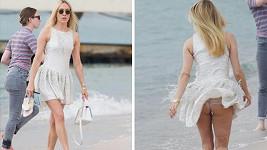Chloë Sevigny zažila na pláži svůj Marilyn Monroe moment.