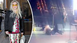 Kesha měla na koncertě malou nehodu.