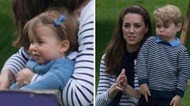 Kate se svými královskými potomky Georgem a Charlotte.