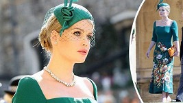 Lady Kitty Spencer na svatbě prince Harryho