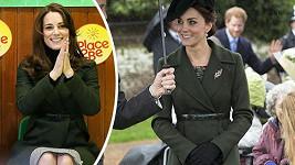 Kate opět oblékla slušivý kabátek Max Mara a udělala dobře...