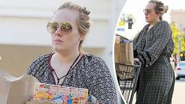 Adele vyrazila na nákup.