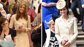 Catherine opět v kabátku, jenž poprvé oblékla v roce 2006 (vlevo).