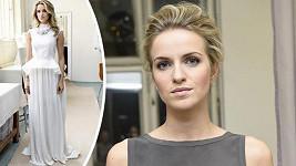 Gabriela Gunčíková bude vystupovat v bílém modelu, jen jemně nalíčená a - v uvozovkách - s nedbale vyčesanými vlasy.