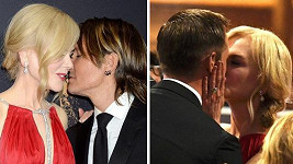 Nicole Kidman se prolíbala celým večerem.